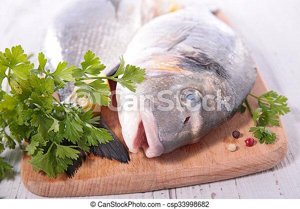 otrzyjcie skórę rybę - csp33998682