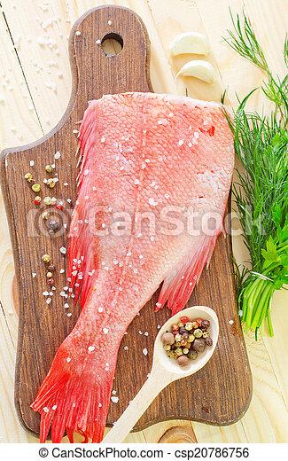 otrzyjcie skórę rybę - csp20786756