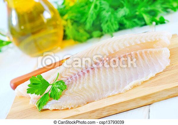 otrzyjcie skórę rybę - csp13793039