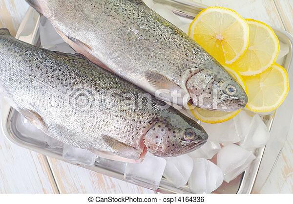otrzyjcie skórę rybę - csp14164336