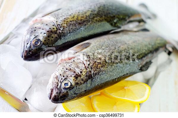 otrzyjcie skórę rybę - csp36499731