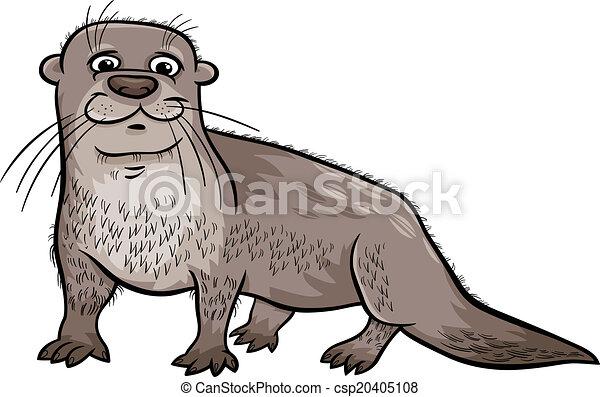 otter animal cartoon illustration - csp20405108