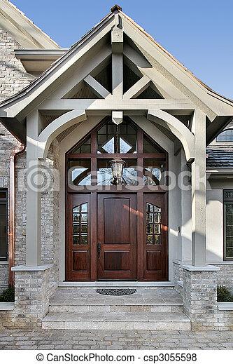 otthon, felmérni, bejárat - csp3055598