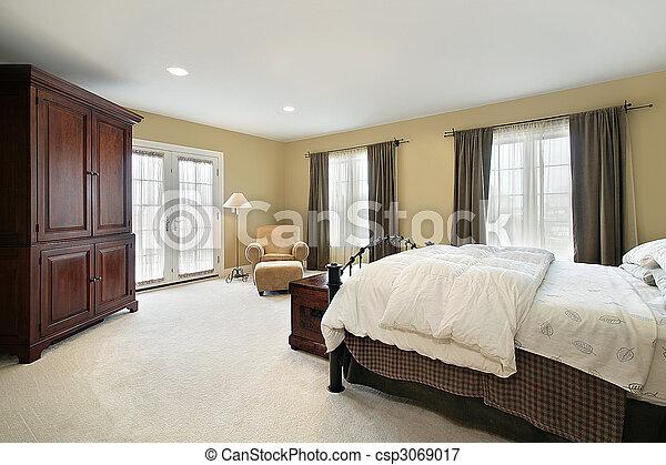 otthon, fiatalúr, fényűzés, hálószoba - csp3069017