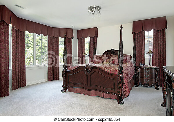 otthon, fiatalúr, fényűzés, hálószoba - csp2465854