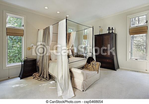 otthon, fiatalúr, fényűzés, hálószoba - csp5468654