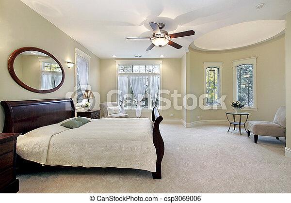 otthon, fiatalúr, fényűzés, hálószoba - csp3069006