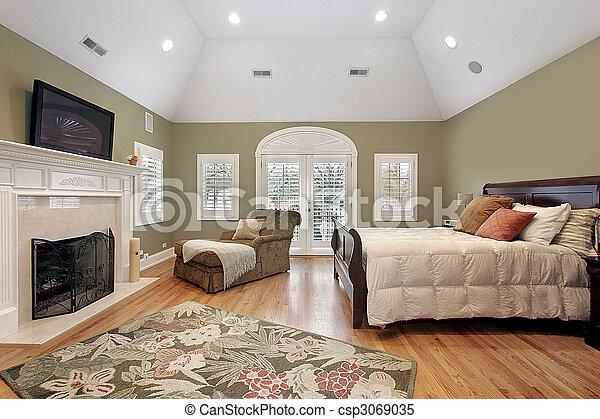 otthon, fiatalúr, fényűzés, hálószoba - csp3069035