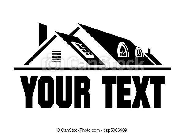 otthon, ikon - csp5066909