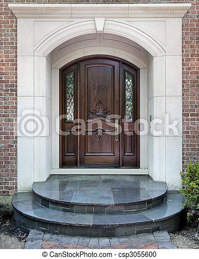otthon, kapualj, fényűzés, bejárat - csp3055600