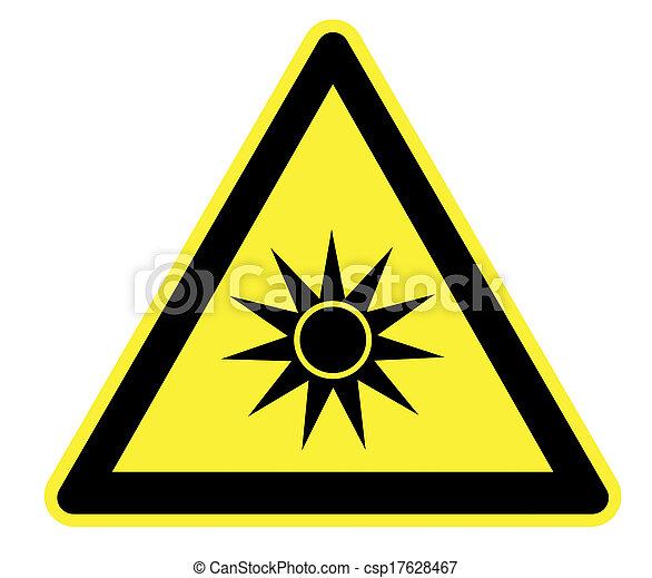 ottico, avvertimento, radiazione, giallo - csp17628467