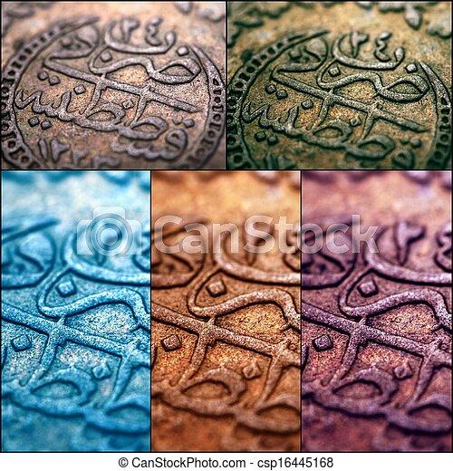 ottoman kejsardöme, mynt - csp16445168