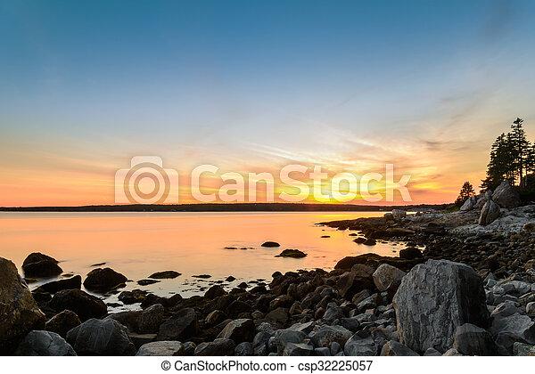 otturatore, spiaggia tramonto, speed), (long - csp32225057