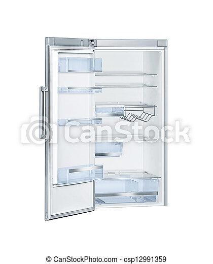 otwarty, chłodnia, drzwi, odizolowany - csp12991359