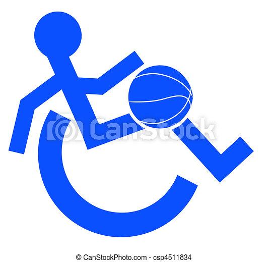 ou, portez symbole, fauteuil roulant, logo - csp4511834