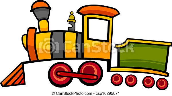 ou, trem, locomotiva, caricatura - csp10295071