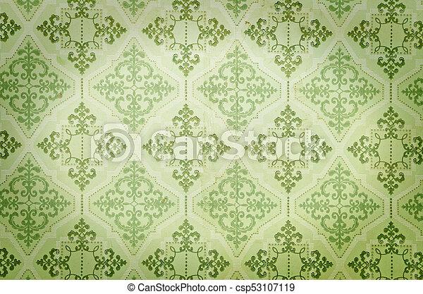 Behang Oud Groen.Oud Behang Groene Oud Behang Textuur Groene Achtergrond Of