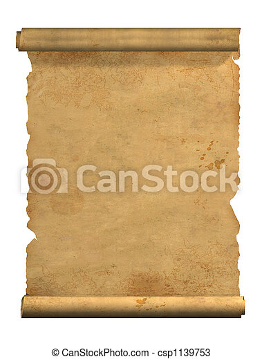oud, boekrol, perkament - csp1139753