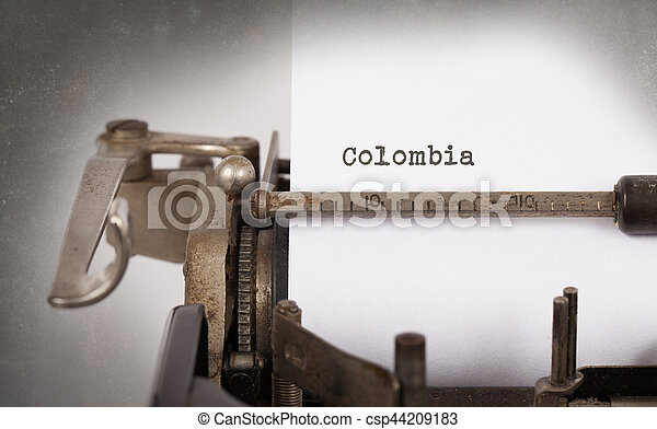 oud, -, colombia, typemachine - csp44209183