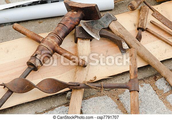 Wonderbaarlijk Oud, gereedschap, timmerman. YT-51