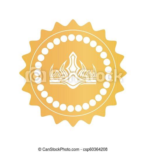 oud, goud, kleur, koninklijke kroon, mark, kwaliteit - csp60364208