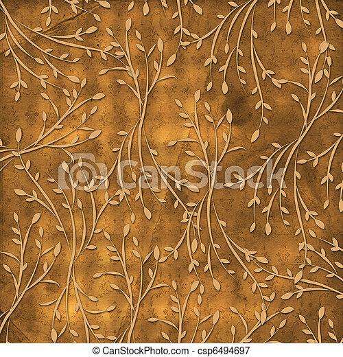 oud, ouderwetse , ornament, achtergrond, floral, grunge - csp6494697