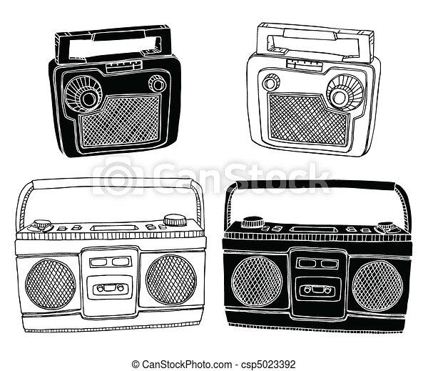 oud, radio's - csp5023392