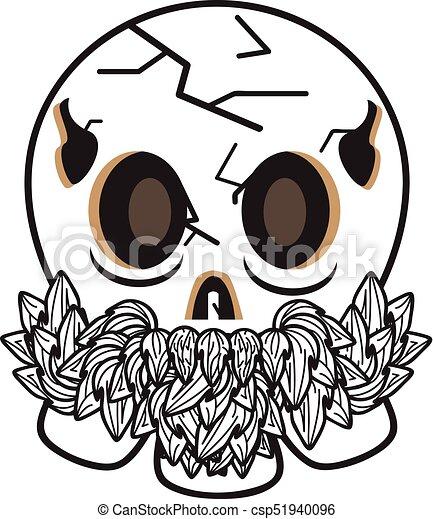 oud, schedel, koel - csp51940096