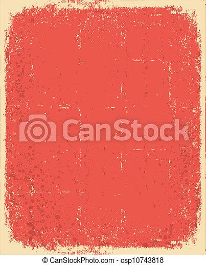 oud, tekst, textuur, grunge, paper.vector, rood - csp10743818