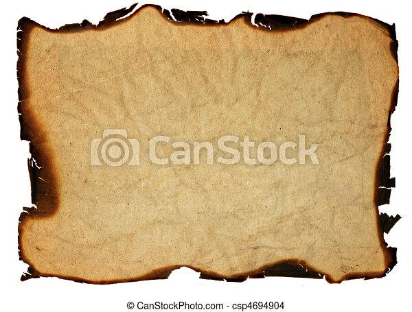 oud, -, vrijstaand, randen, papier, grunge, gebrande - csp4694904