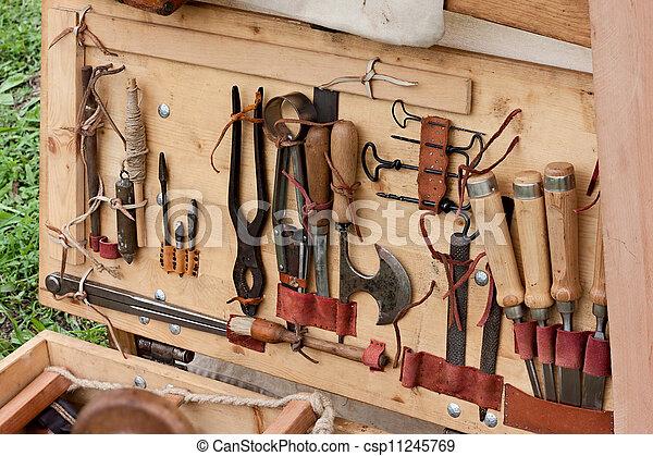 oud, woodworking, gereedschap - csp11245769