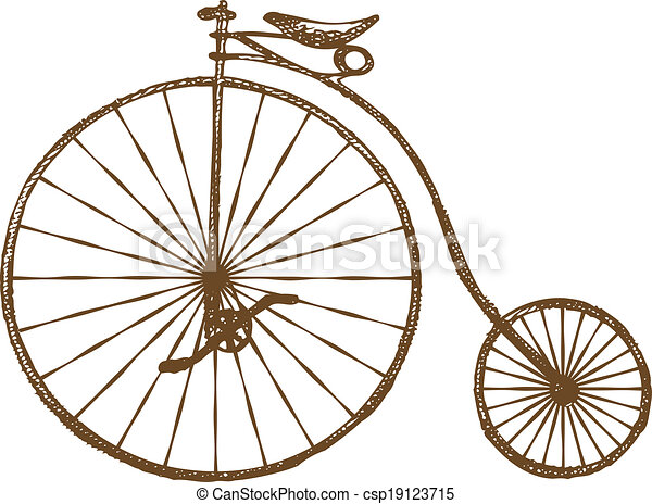 oude fiets, fashioned - csp19123715