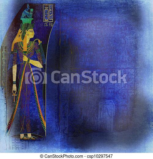 oude kunst, achtergrond, egyptisch - csp10297547