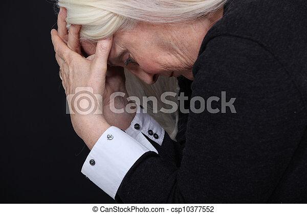 oude vrouw, pijn - csp10377552