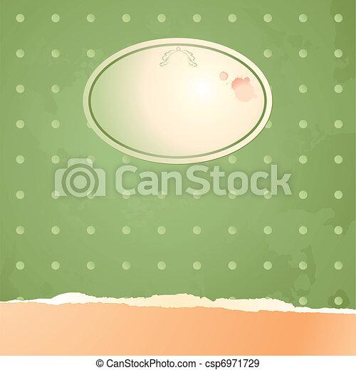 ouderwetse , achtergrond, etiket - csp6971729