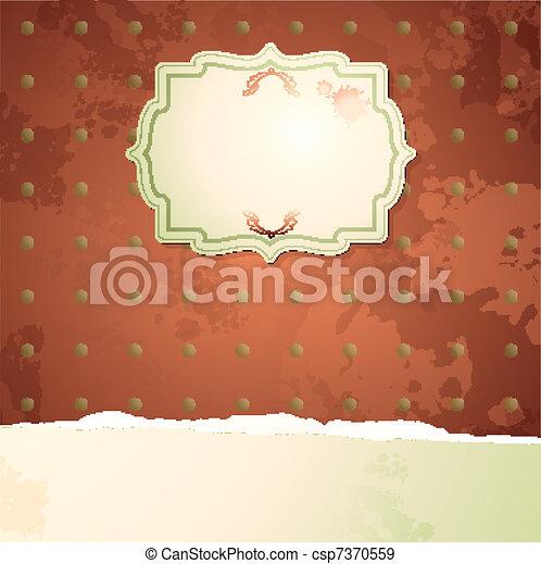 ouderwetse , achtergrond, roos - csp7370559
