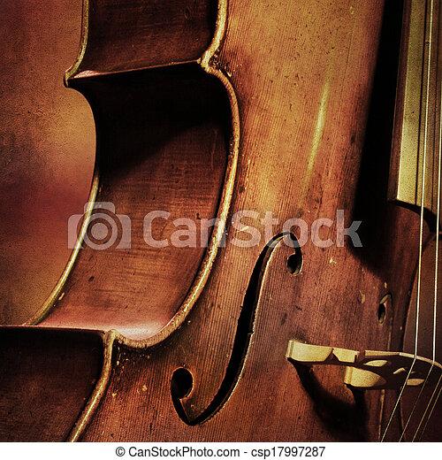 ouderwetse , cello, achtergrond - csp17997287