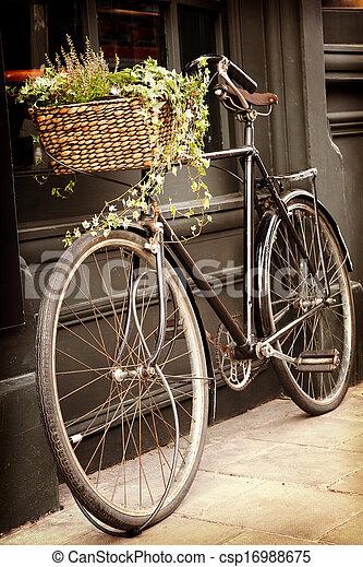 ouderwetse , fiets - csp16988675