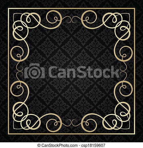 ouderwetse , frame., calligraphic - csp18159607