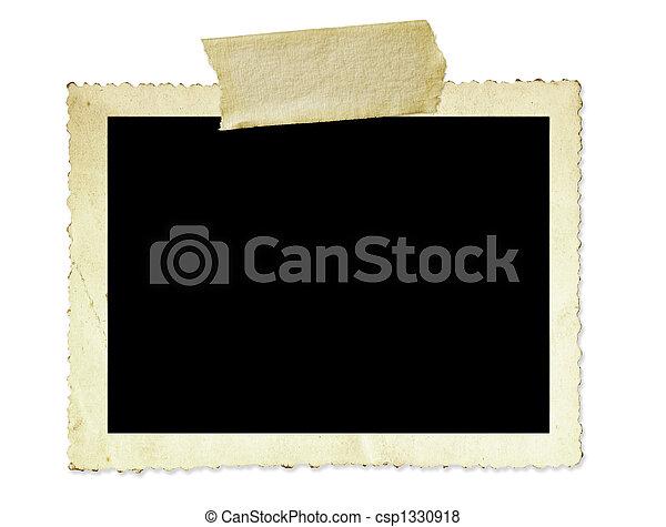 ouderwetse , frame, foto - csp1330918