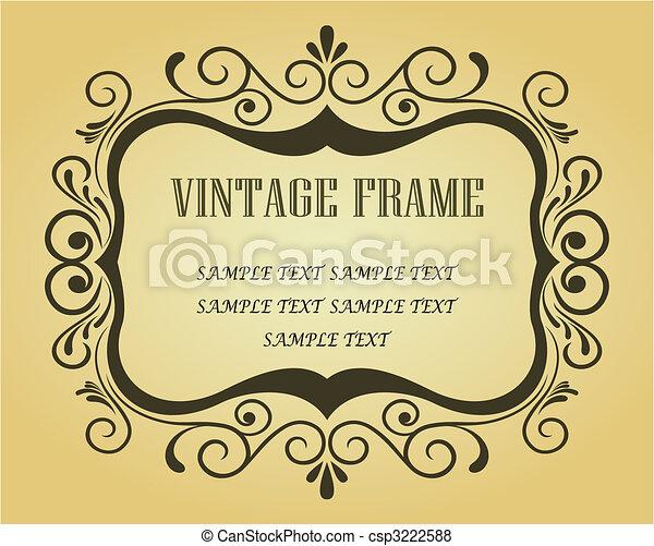 ouderwetse , frame, ontwerp - csp3222588