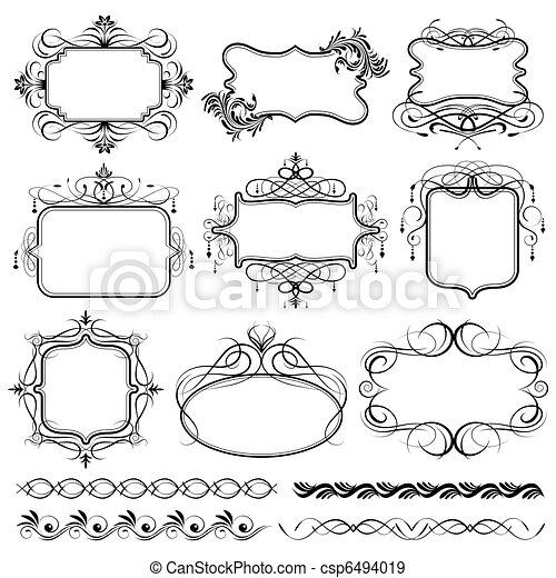 ouderwetse , frame, ontwerp - csp6494019