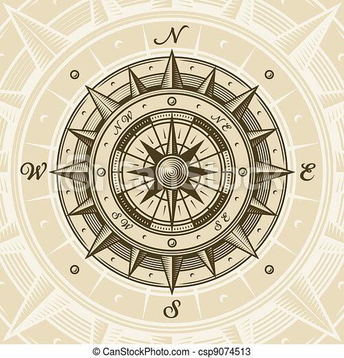 ouderwetse , kompas - csp9074513