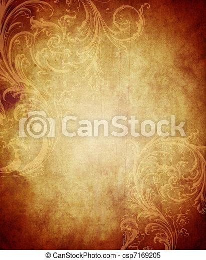 ouderwetse , papier, achtergrond - csp7169205