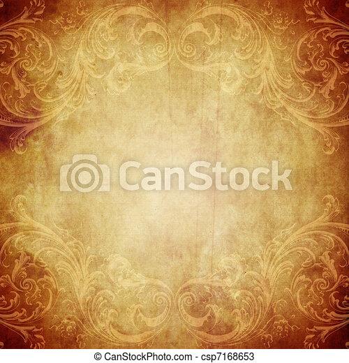ouderwetse , papier, achtergrond - csp7168653