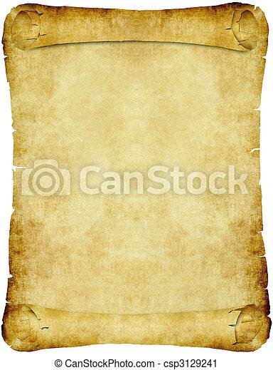 ouderwetse , papier, perkament, boekrol - csp3129241