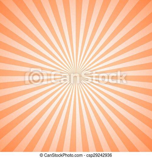 ouderwetse , radiaal, lijnen, model, geometrisch, zonnestraal - csp29242936