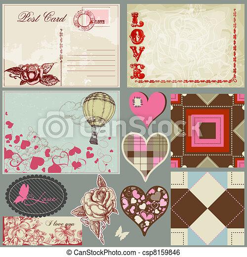 ouderwetse , set, liefde - csp8159846