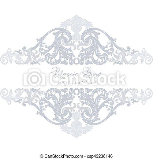 ouderwetse , spandoek, of, kaart, uitnodiging - csp43238146