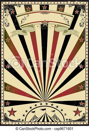ouderwetse , sunbeams, circus - csp9671601